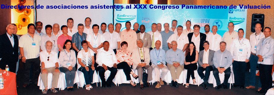 Los directores de asociaciones asistentes al XXX Congreso Panamericano de Valcuación.